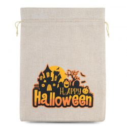 1 pc Halloween Burlap Bag...
