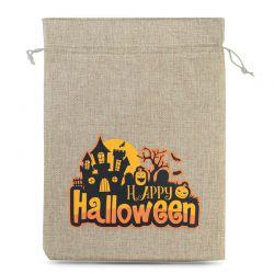 1 pc Halloween Burlap Bag (No.1) 40 x 55 cm - natural Burlap bags
