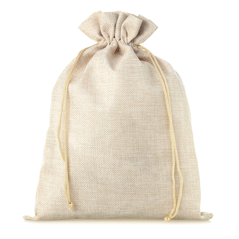 1 pc Burlap bag 50 x 65 cm - light natural