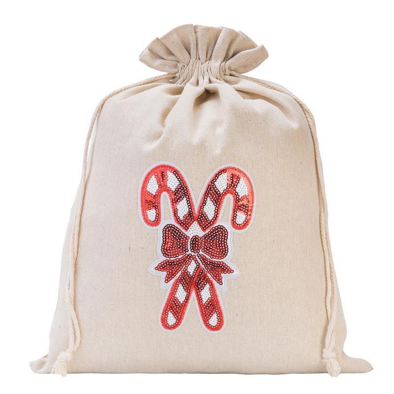 1 pc Linen bag 30 x 40 cm - Christmas, Lollipop
