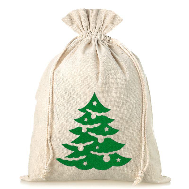1 pc Linen bag 26 x 35 cm - Christmas tree