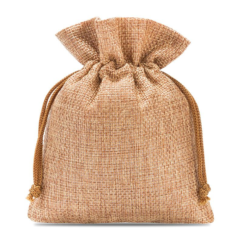 10 pcs Burlap bag 13 cm x 18 cm - light brown