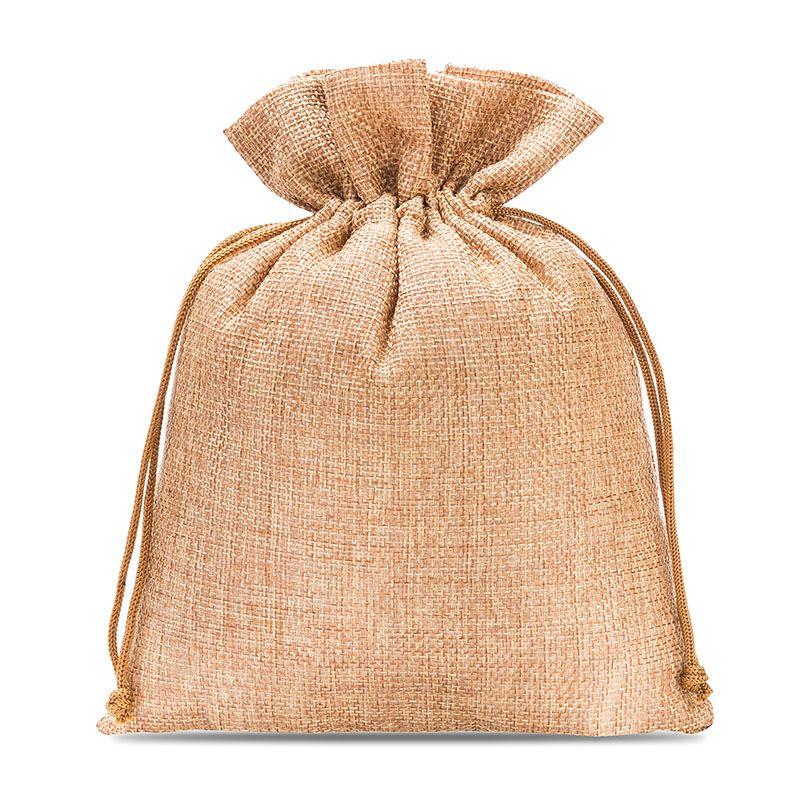 5 pcs Burlap bag 18 cm x 24 cm - light brown