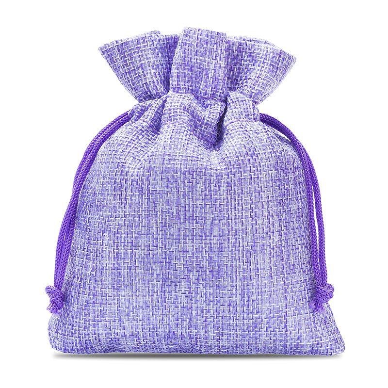 10 pcs Burlap bag 10 cm x 13 cm - light purple
