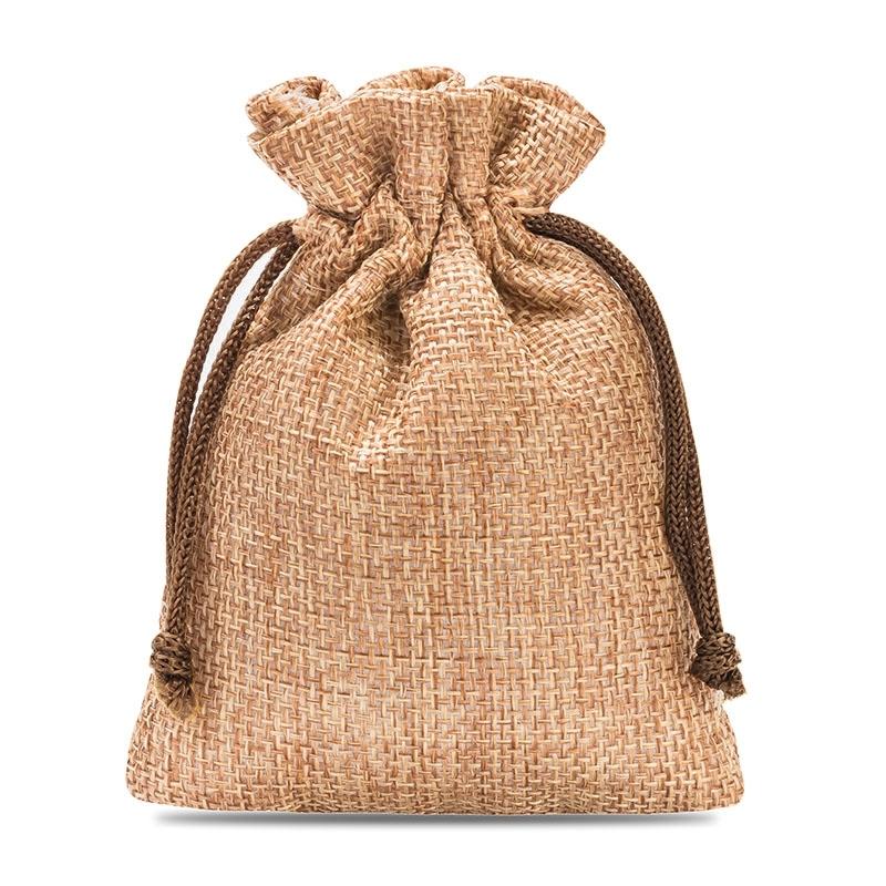 later outlet store sale sleek 10 pcs Burlap bag 8 cm x 10 cm - light brown