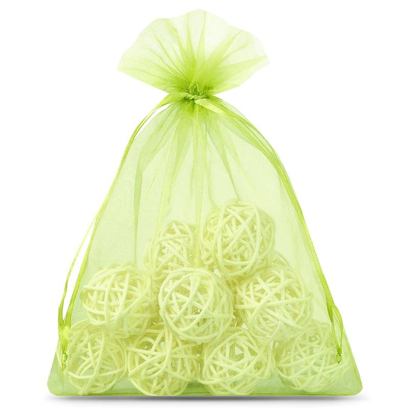 10 pcs Organza bags 18 x 24 cm - green Decorative Organza bags