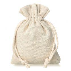10 pcs Linen bag 6 cm x 8...