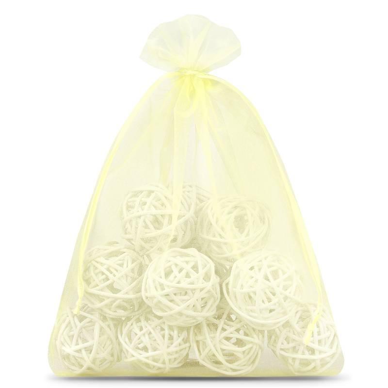 5 pcs Organza bags 35 x 50 cm - white Decorative Organza bags