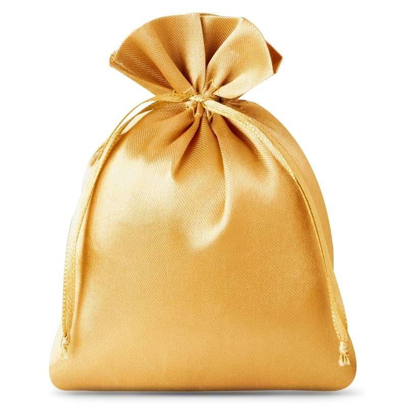 10 pcs Satin bags 6 x 8 cm - gold