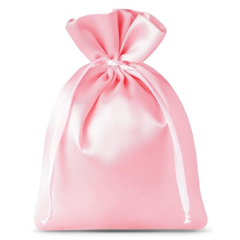 10 pcs Satin bags 8 x 10 cm - light pink Satin bag