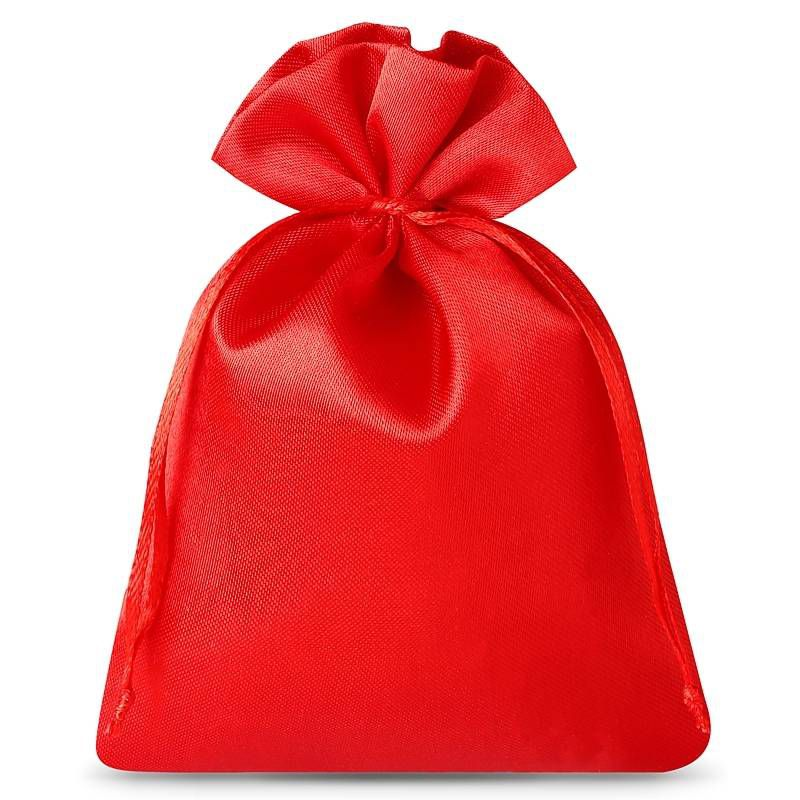 10 pcs Satin bags 6 x 8 cm - red