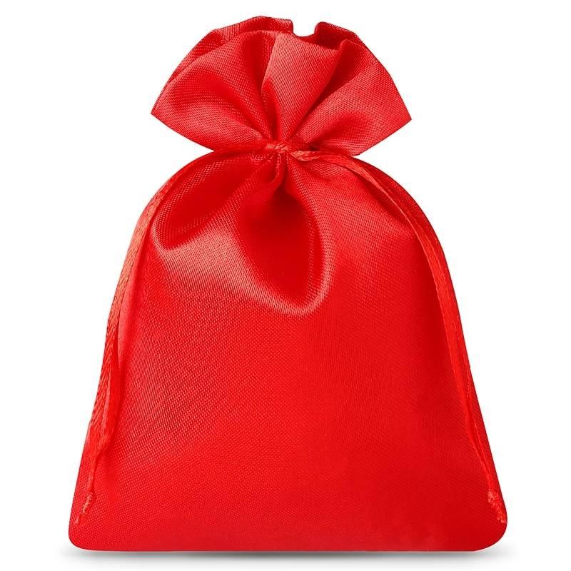 10 pcs Satin bags 8 x 10 cm - red Satin bag