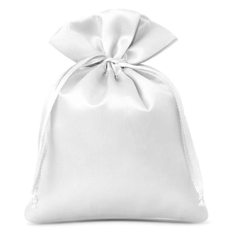 10 pcs Satin bag 6 x 8 cm - white