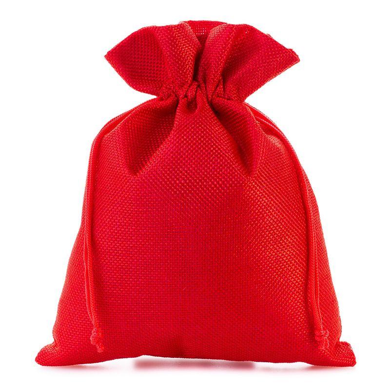 5 pcs Burlap bag 15 cm x 20 cm - red
