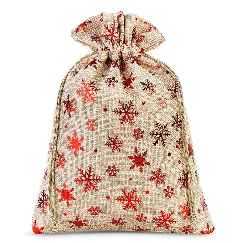 1 pc Jute bag 40 x 55 cm - natural / stars