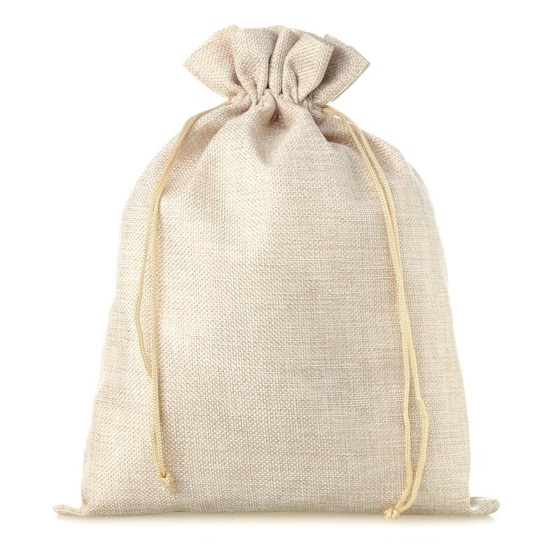 1 pc Burlap bag 45 x 60 cm - light natural