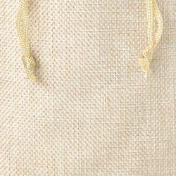 10 pcs Burlap bag 12 x 15 cm - light natural Valentine's Day