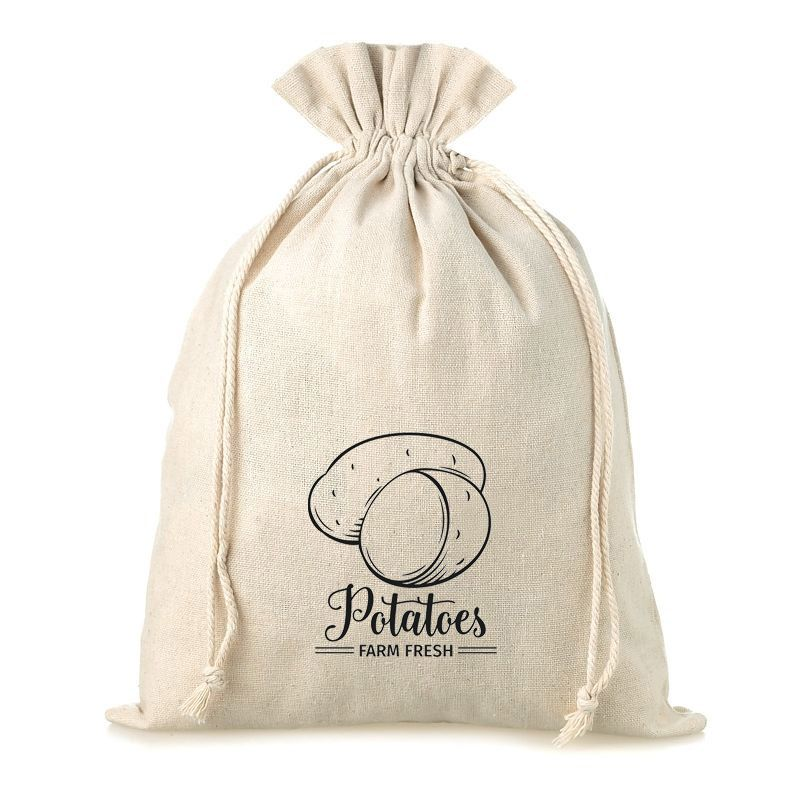 1 pc Linen bag with printing 35 x 50 cm - for potatoes