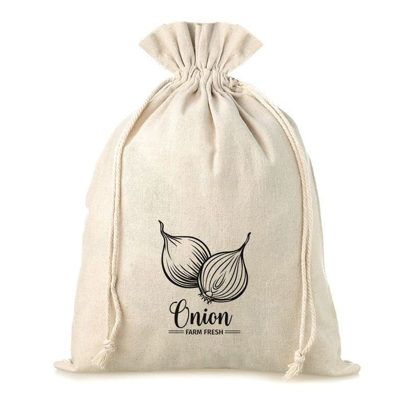 1 pc Linen bag with printing 30 x 40 cm - for onion