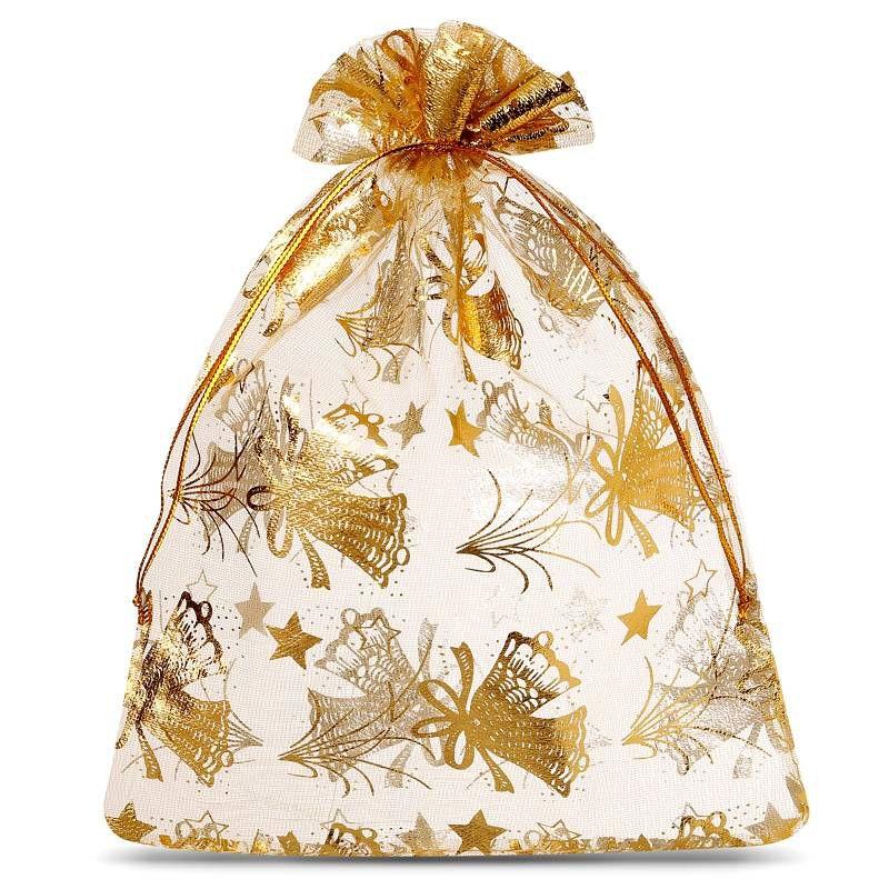10 pcs Organza bags 12 x 15 cm - Christmas / 3
