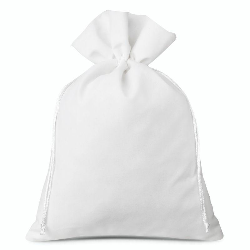 1 pc Velvet pouches 30 x 40 cm - white