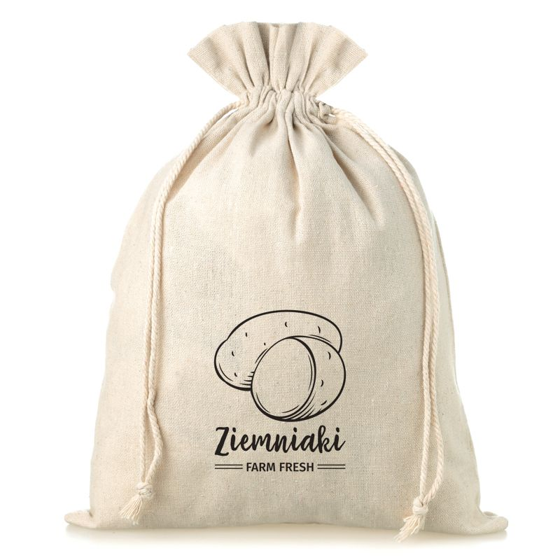 1 pc Linen bag with printing 35 x 50 cm - for potatoes (PL)