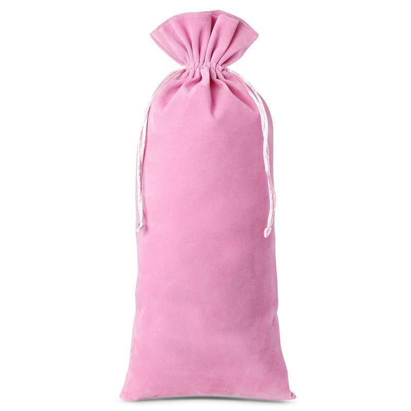 10 pcs Velvet pouches 11 x 20 cm - light pink