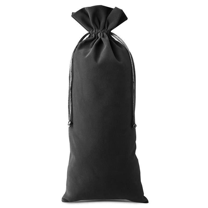 10 pcs Velvet pouches 11 x 20 cm - black