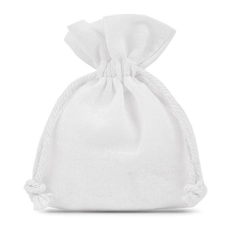 10 pcs Cotton pouches 12 x 15 cm - white