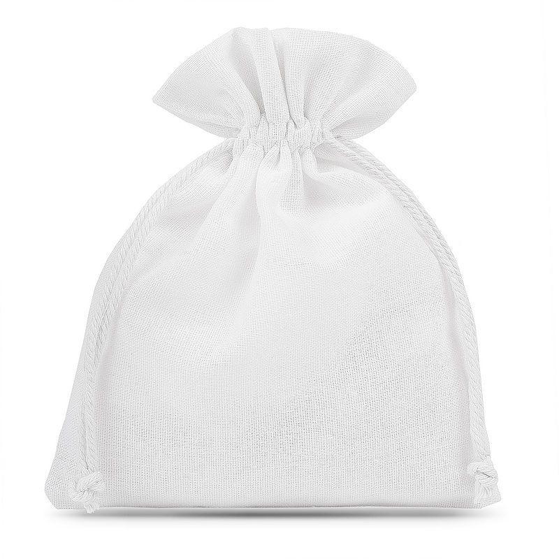 5 pcs Cotton pouches 15 x 20 cm - white
