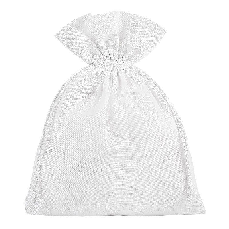 5 pcs Cotton pouches 18 x 24 cm - white