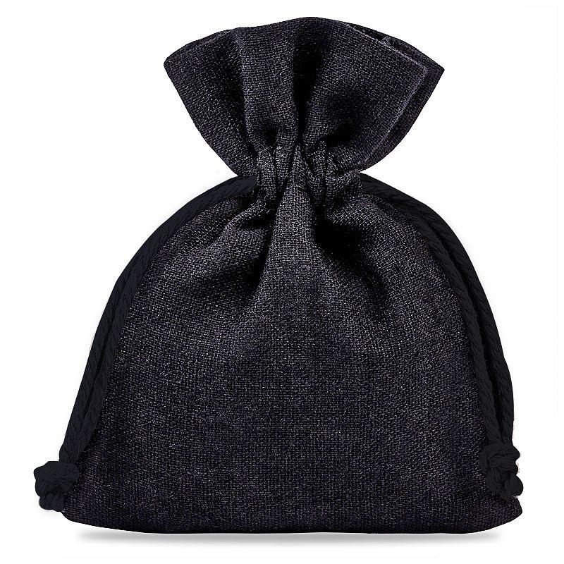 10 pcs Cotton pouches 12 x 15 cm - black