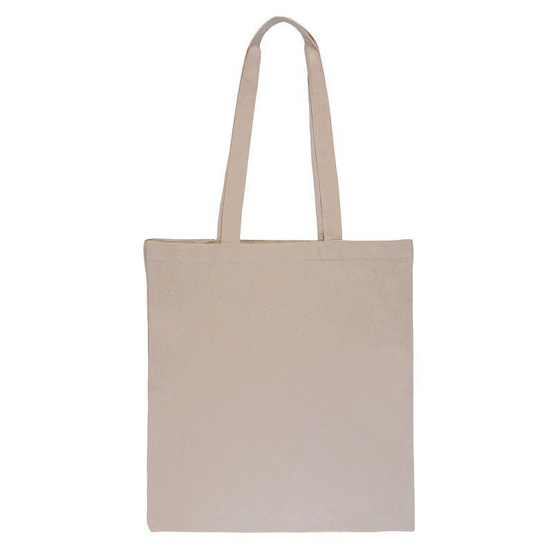Natural cotton bag - ecru 38 x 48 cm with long handles