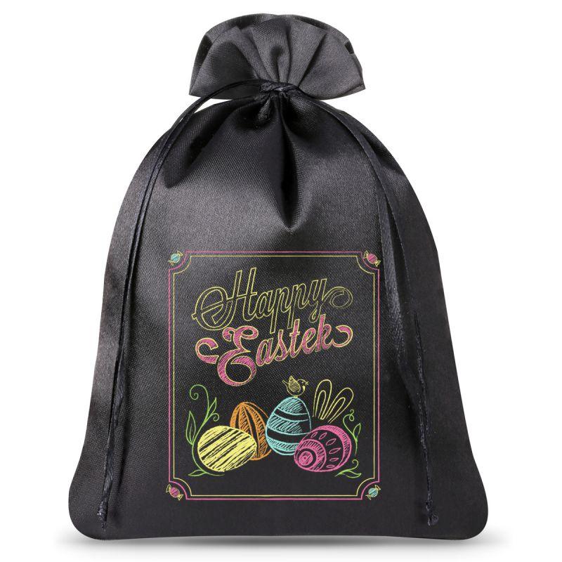 1 pc Satin bag, sized 26 x 35 cm- Easter egg chalk effect