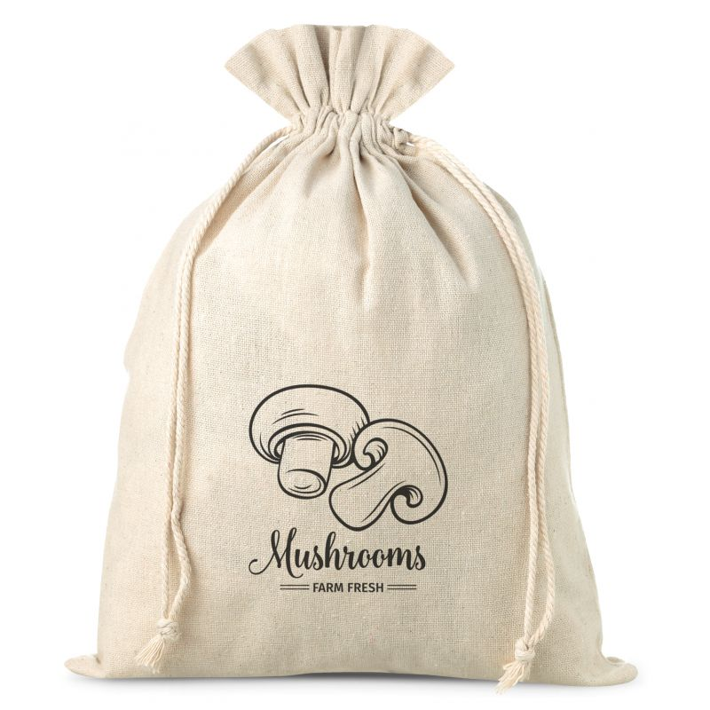 1 pc Linen bag with printing 30 x 40 cm - for mushrooms
