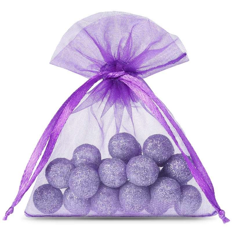 Sacchetti di organza 8 x 10 cm (25 pz) - viola Decorative Organza bags