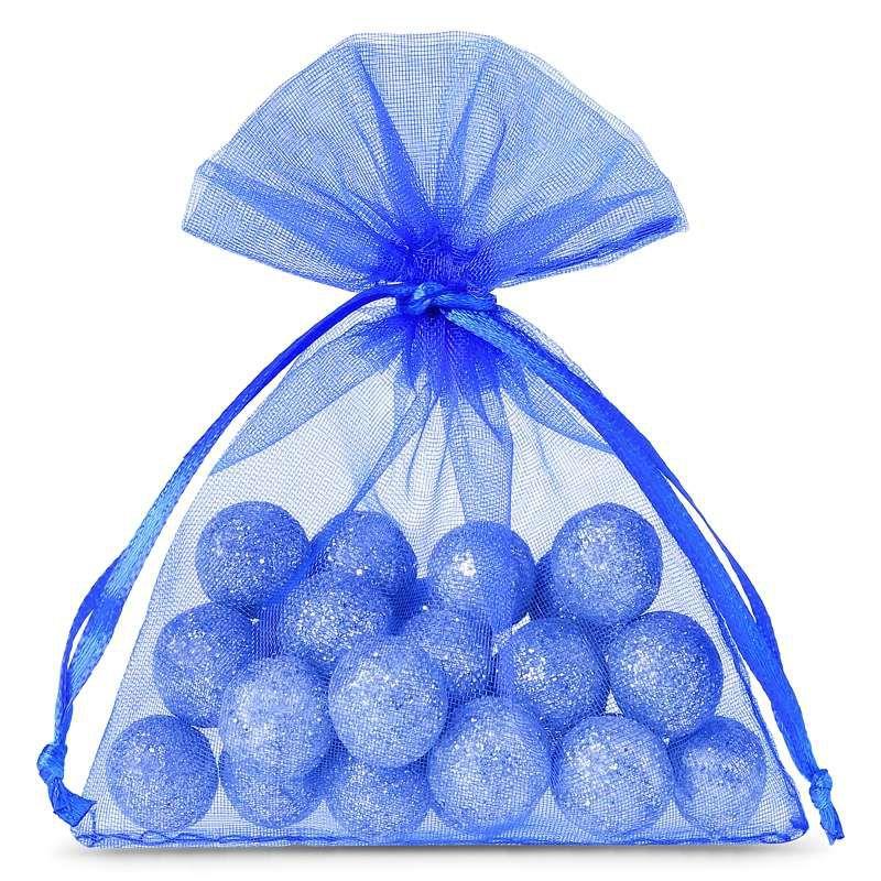 25 pcs Organza bags 8 x 10 cm - blue