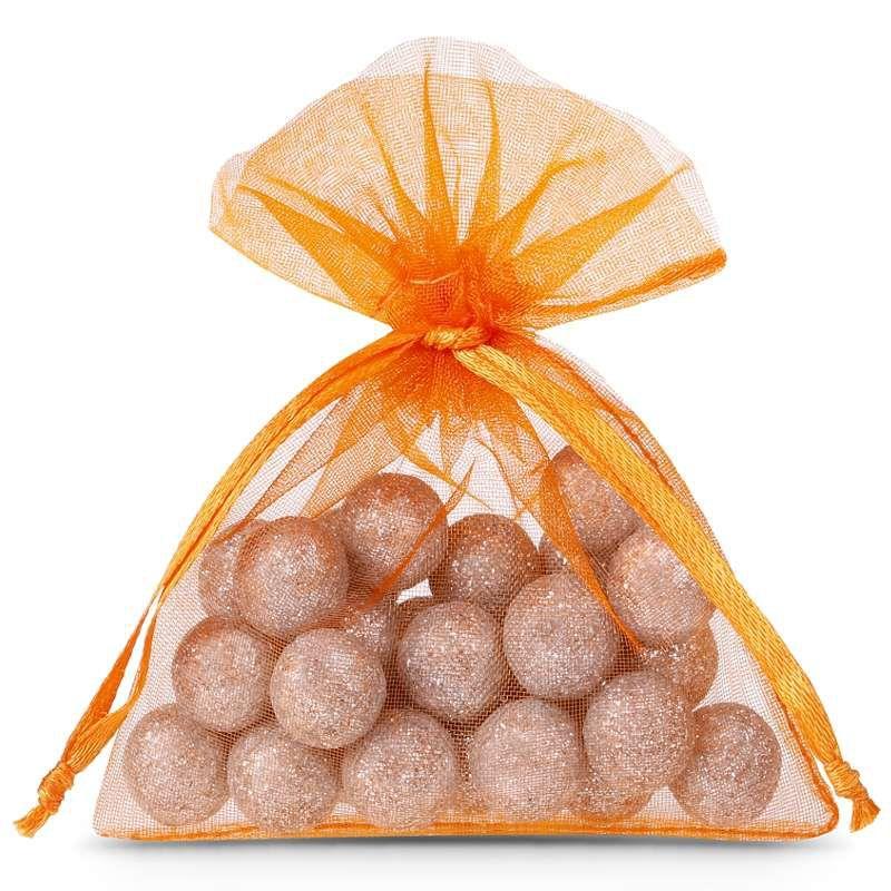 25 pcs Organza bags 6 x 8 cm - orange