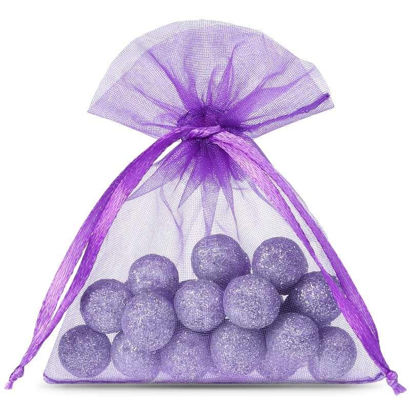 25 pcs Organza bags 9 x 12 cm - dark purple