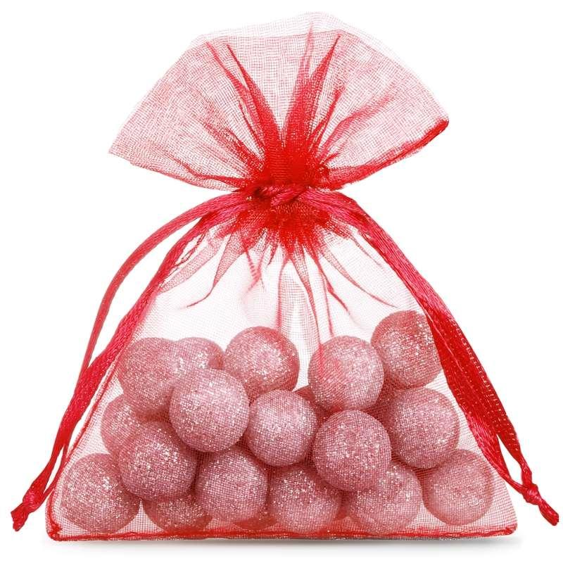 Bolsas de organza 10 x 13 cm (25 pzs) - rojo Decorative Organza bags
