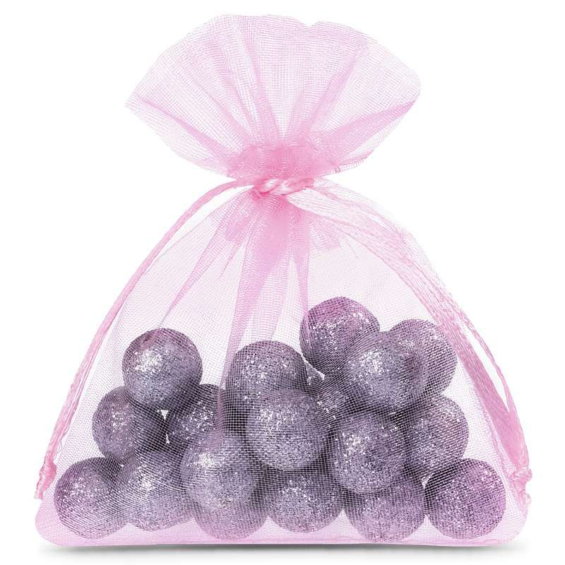 25 pcs Organza bags 6 x 8 cm - light pink