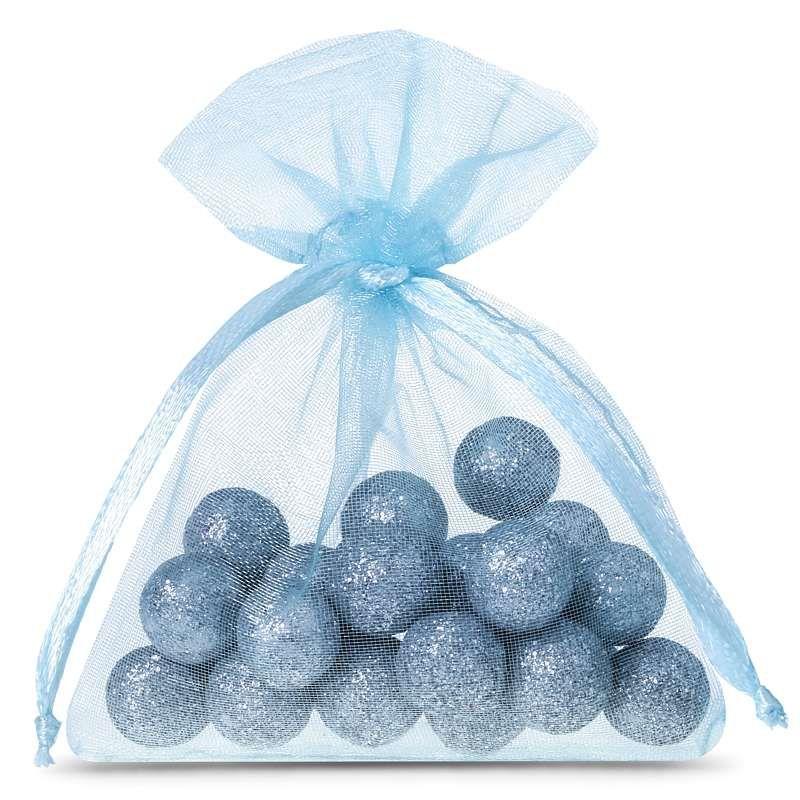 25 pcs Organza bags 5 x 7 cm - light blue