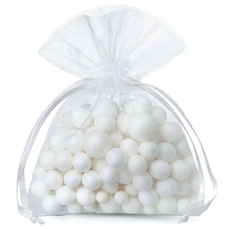 25 pcs Organza bags 11 x 14 cm - white