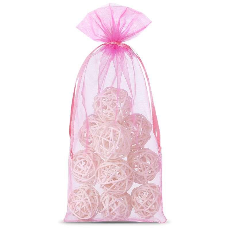 10 pcs Organza bags 15 x 33 cm - pink