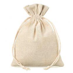 10 pcs Linen bag 12 cm x 15...
