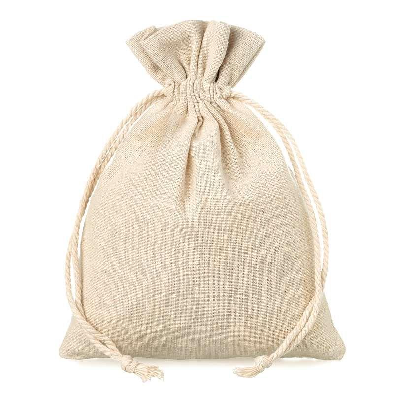 10 pcs Linen bag 13 cm x 18 cm - natural
