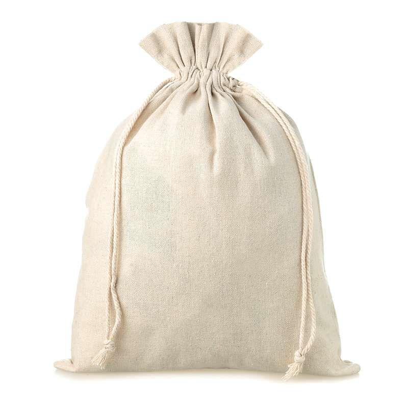 3 pcs Linen bag 22 cm x 30 cm - natural