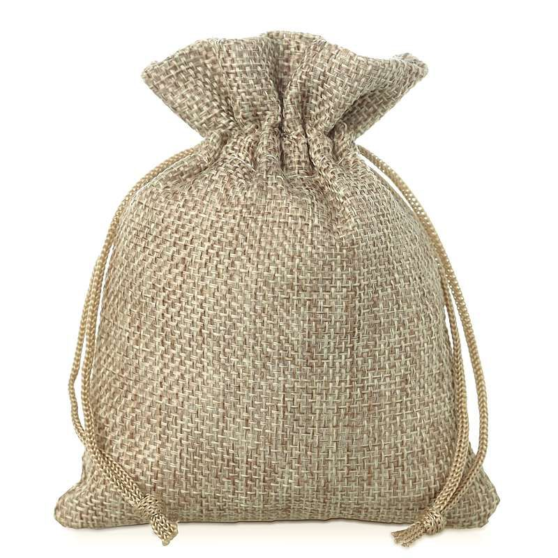 10 pcs Burlap bag 11 cm x 14 cm - natural