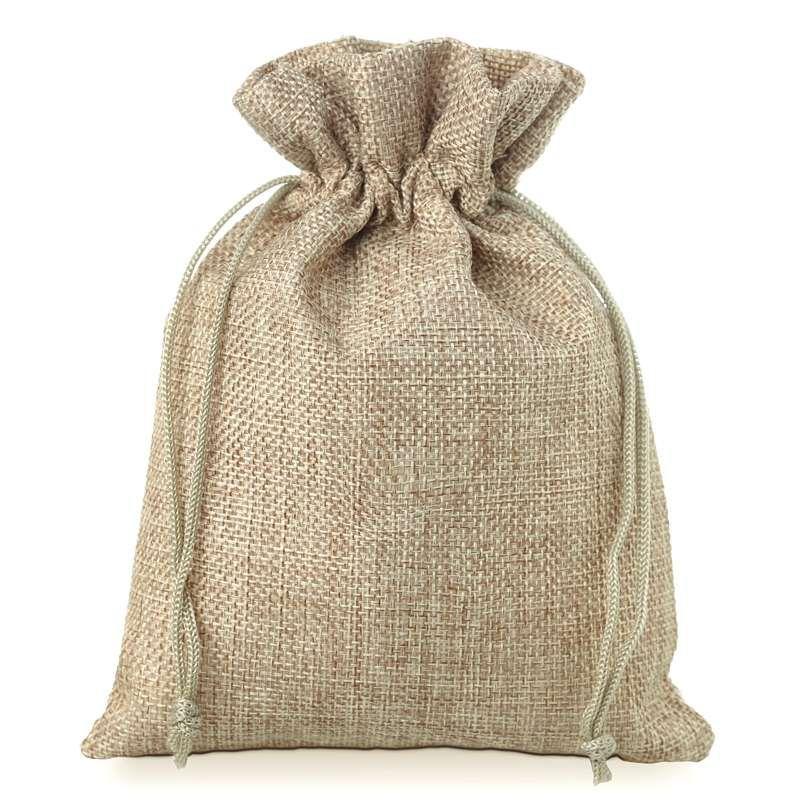 22 x 19 x 12cm Small Green Jute Hessian Bag