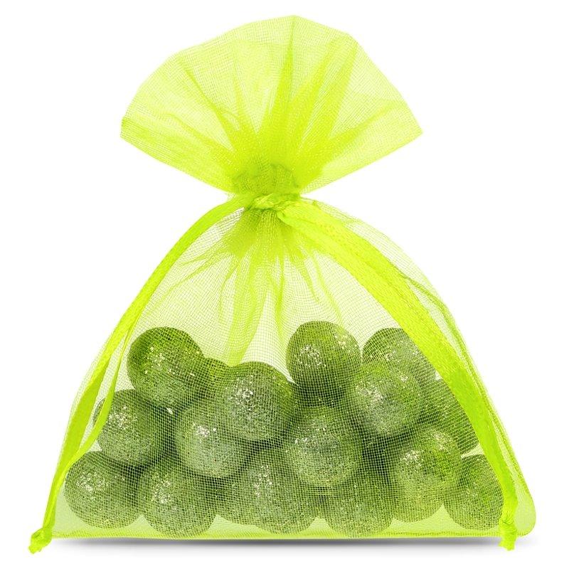 25 pcs Organza bags 8 x 10 cm - neon green Decorative Organza bags